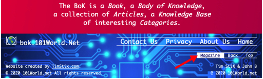 Access the Magazine from Footer Menu
